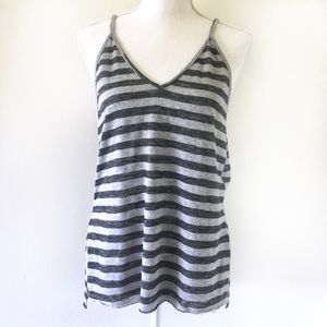 Project Social T | Gray Striped Tank Top X Small